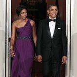 Barack y Michelle Obama en una cena de gala en la Casa Blanca