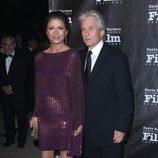 Catherine Zeta Jones y Michel Douglas en el Festival de Santa Bárbara