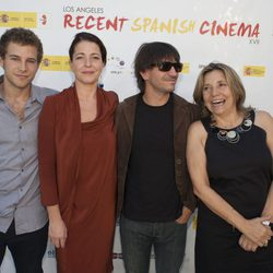 Álvaro Cervantes, Nora Navas, Achero Mañas e Isona Passola en la apertura de la Muestra de Cine español de Los Ángeles