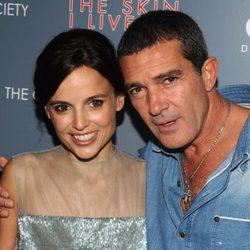 Elena Anaya y Antonio Banderas en la premiere de 'La piel que habito' en Nueva York