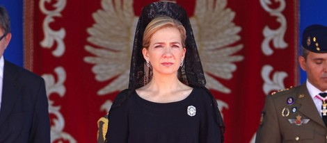 La Infanta Cristina preside la entrega de la Enseña Nacional al Regimiento de Guerra Electrónica