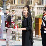 La Infanta Cristina en la entrega de la Enseña Nacional al Regimiento de Guerra Electrónica