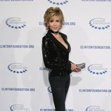 Jane Fonda en la fiesta de la Fundación Clinton