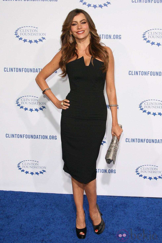 Sofia Vergara en la fiesta de la Fundación Clinton