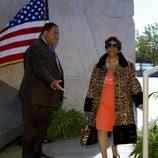 Aretha Franklin en la inauguración del monumento a Martin Luther King