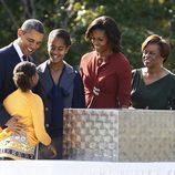 Los Obama en la inauguración del monumento en memoria a Martin Luther King
