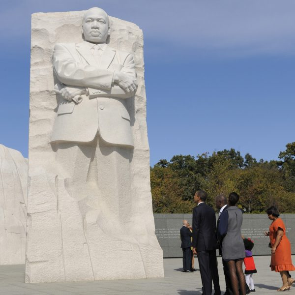 Inauguración del monumento en memoria a Martin Luther King en Washington