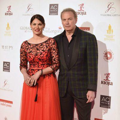 Bertín Osborne y Fabiola Martínez en la gala benéfica Global Gift 2016 en Madrid