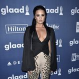 Demi Lovato en el photocall de los Premios GLAAD Media 2016