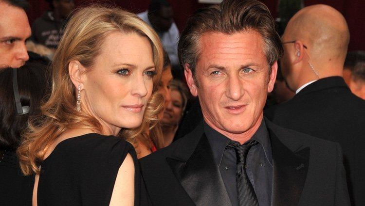 Robin Wright y Sean Penn en los Premios Oscar 2009