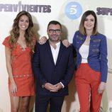 Lara Álvarez, Jorge Javier Vázquez y Sandra Barneda en la presentación de 'Supervivientes 2016'