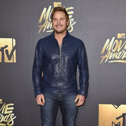 Chris Pratt en alfombra roja de los MTV Movie Awards 2016