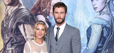 Elsa Pataky y Chris Hemsworth en el estreno de 'Las crónicas de Blancanieves: El cazador y la reina del hielo' en Los Angeles