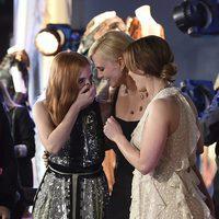 Jessica Chastain, Charlize Theron y Emily Blunt en el estreno de 'Las crónicas de Blancanieves: El cazador y la reina del hielo' en Los Angeles