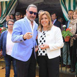 Carlos Herrera y Susana Díaz en la Feria de Abril 2016
