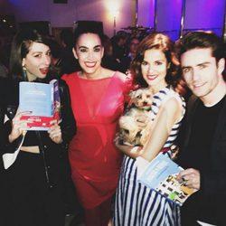 Marta Torné junto a Pelayo Díaz, Natalia Ferviú y Cristina Rodríguez en la presentación de 'Marta & Rufus'