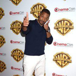 Will Smith en la fiesta Warner en la CinemaCon 2016 en Las Vegas