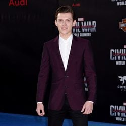 Tom Holland en el estreno de 'Capitán América: Civil War'