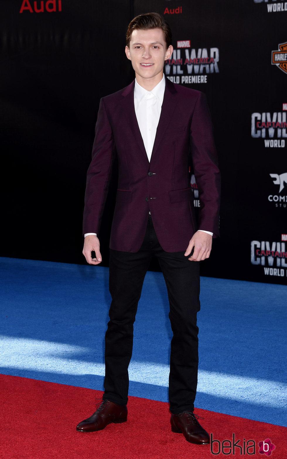 Tom Holland en el estreno de 'Capitán América: Civil War'