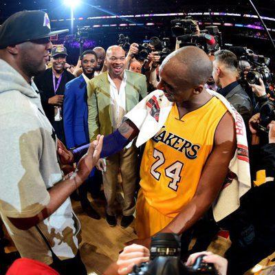 Lamar Odom en el último partido de Kobe Bryant en los Lakers