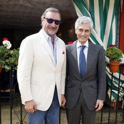 Carlos Herrera y Adolfo Suárez Illana en la Feria de Abril 2016