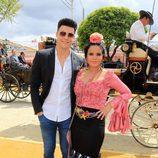 Gloria Camila y Kiko Jiménez en la Feria de Abril 2016