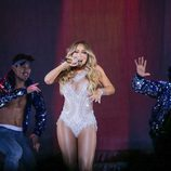 Mariah Carey en el concierto de su gira 'The Sweet Sweet Fantasy' en Polonia