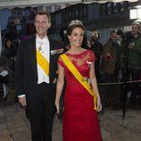 Joaquín y Marie de Dinamarca en la cena de Estado en honor el presidente de México Enrique Peña Nieto