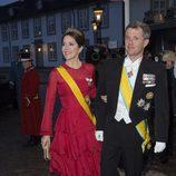 Federico y Mary de Dinamarca en la cena de Estado en honor el presidente de México Enrique Peña Nieto