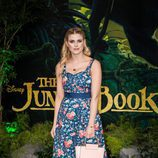 Ashley James en la presentación del 'El Libro de la Selva'  en Londres