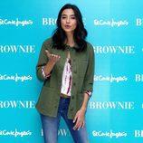 Rocío Crusset posando en la presentación de la colección Primavera/Verano 2016 de Brownie