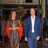 Los Duques de Cambridge en una cena en su honor en Bhutan