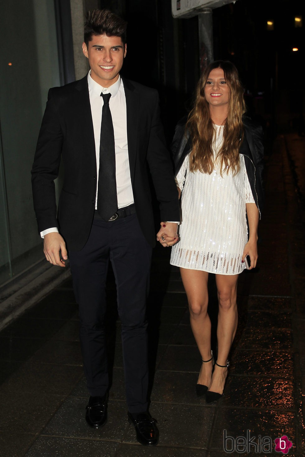Javier Tudela y su novia Alejandra Lozano en la fiesta final de 'Gran Hermano VIP 4'