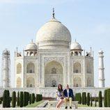Los Duques de Cambridge visitando el Taj Mahal