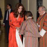 Kate Middleton en una cena de cooperación entre Inglaterra y Bhutan