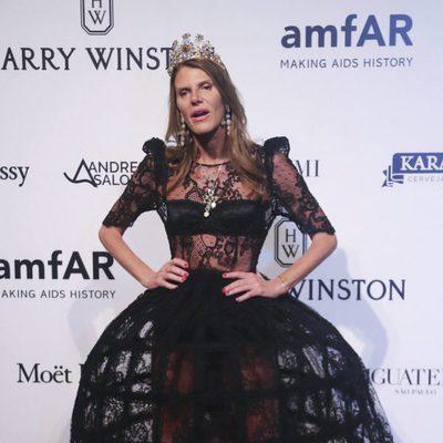 Ana Dello Russo en la Gala amfAR 2016 de Sao Paulo
