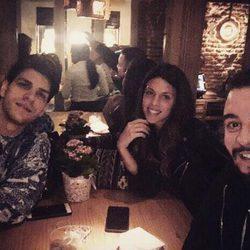 Laura Matamoros disfruta de una cena con su hermano Diego en Madrid