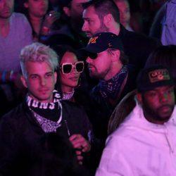 Leonardo DiCaprio y Rihanna en el festival de Coachella 2016
