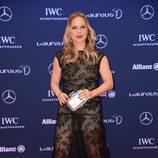 Regina Halmich en los Premios Laureus 2016 en Berlín