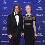 Carles Puyol y Vanesa Lorenzo en los Premios Laureus 2016 en Berlín
