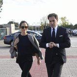 Carolina Adriana Herrera y El Litri en el funeral de Felicidad Salazar Simpson