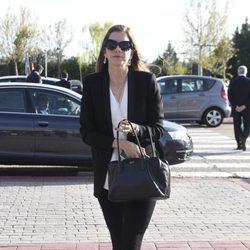 Margarita Vargas en el funeral de Felicidad Salazar Simpson
