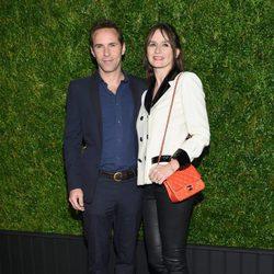 Alessandro Nivola y Emily Mortimer en la cena de Chanel en el Festival de Tribeca 2016 en Nueva York