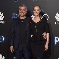 Juan Ramón Lucas y Sandra Ibarra en una fiesta organizada por una empresa de tecnología móvil