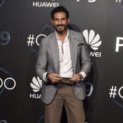 Óscar Higares en una fiesta organizada por una empresa de tecnología móvil