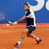 Feliciano López en su debut en el Torneo Conde de Godó 2016