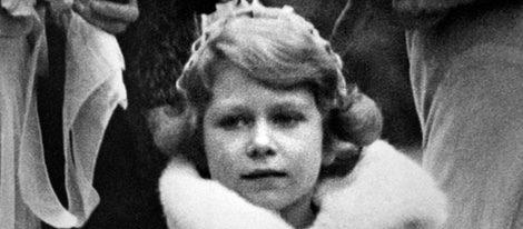 La Reina Isabel cuando era niña