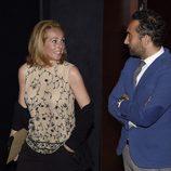 Rocío Carrasco  y Fidel Albiac durante la presentación del sello de Rocío Jurado
