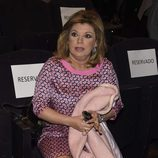 Terelu Campos en la presentación del sello de Rocío Jurado