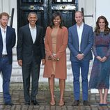 Los Obama con los Duques de Cambridge y el Príncipe Harry en Londres